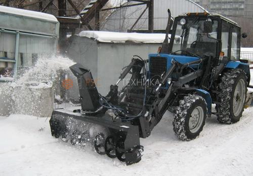 Шнекоротоный снегоочиститель МТЗ